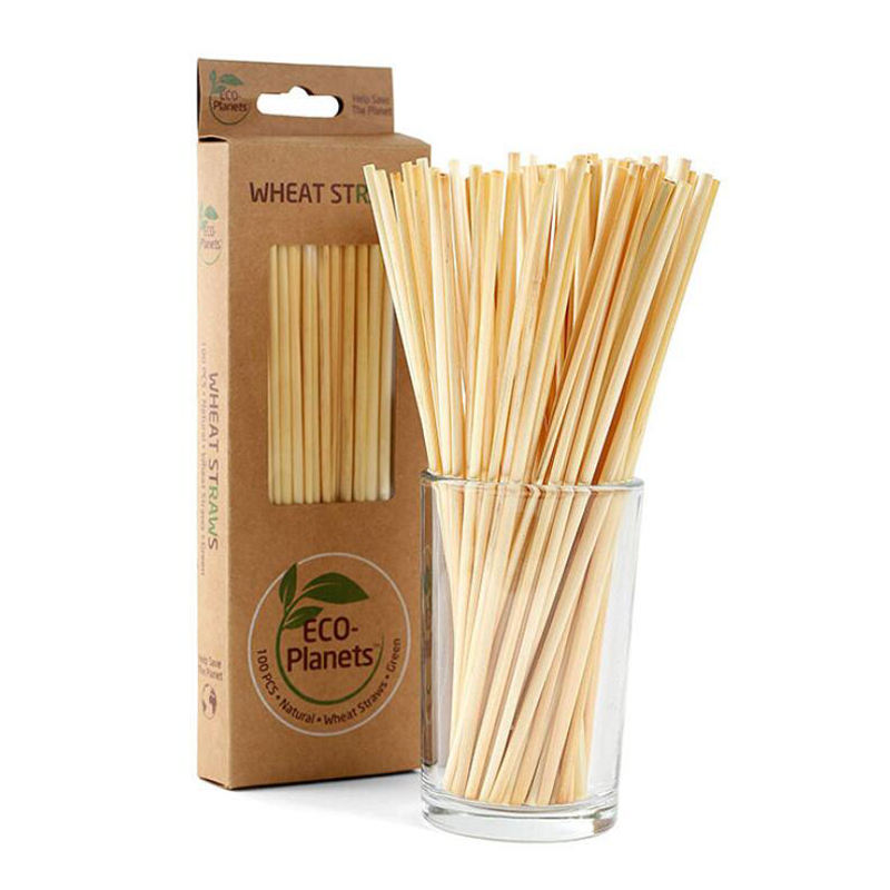 100% Organic Biodegradable Eco-friendly Natural Wheat Grass Drinking Non Plastic Straws Vietnam