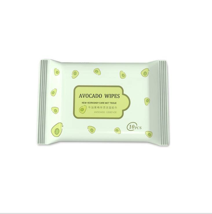 Avocado essence sanitary wet wipes Food grade safe edible New-born baby care wipes