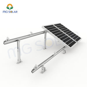 China Factory Adjustable Tilt Solar Structure Rack System flat roof solar mounting kits