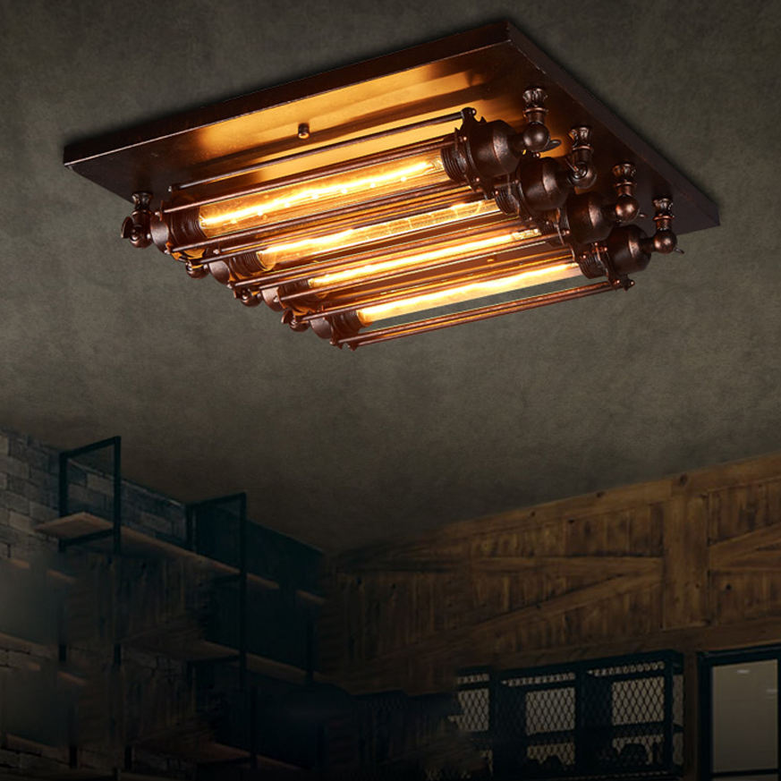 e27 Vintage Industrial Iron Designer Lamparas De Techo Ceiling Lights.LED Ceiling Light.Ceiling Lamp For Foyer Bedroom