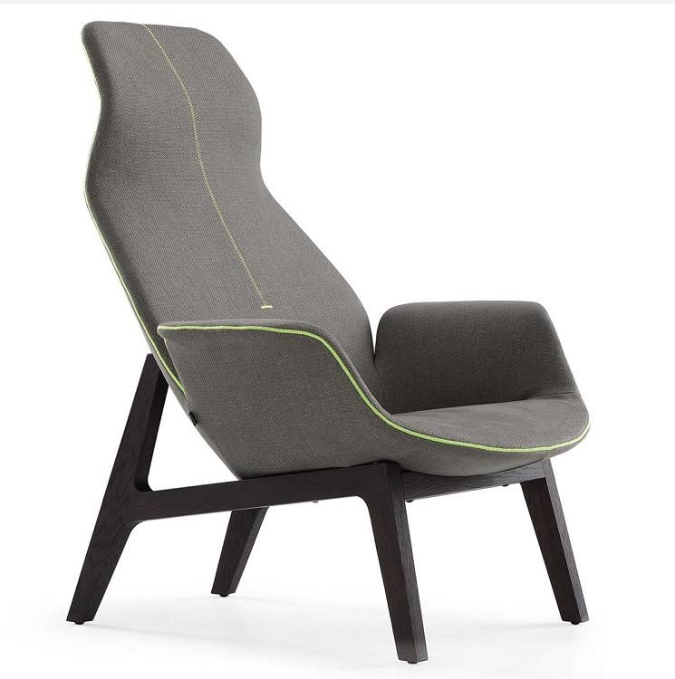 Modern design living room furniture Danish style comfort velvet wooden structure Ventura Lounge armchair