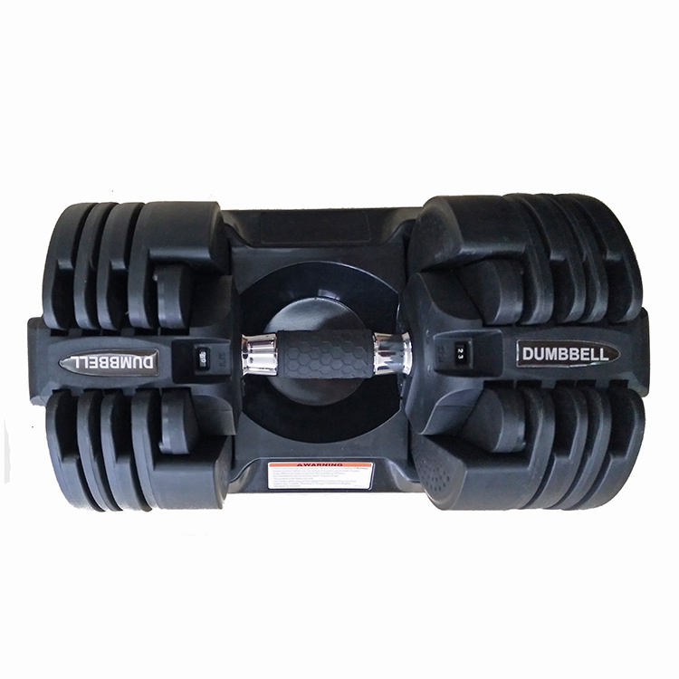Fitness Equipment Gym Training 20kg 50Lbs Adjustable Weight Dumbbell For Body Building