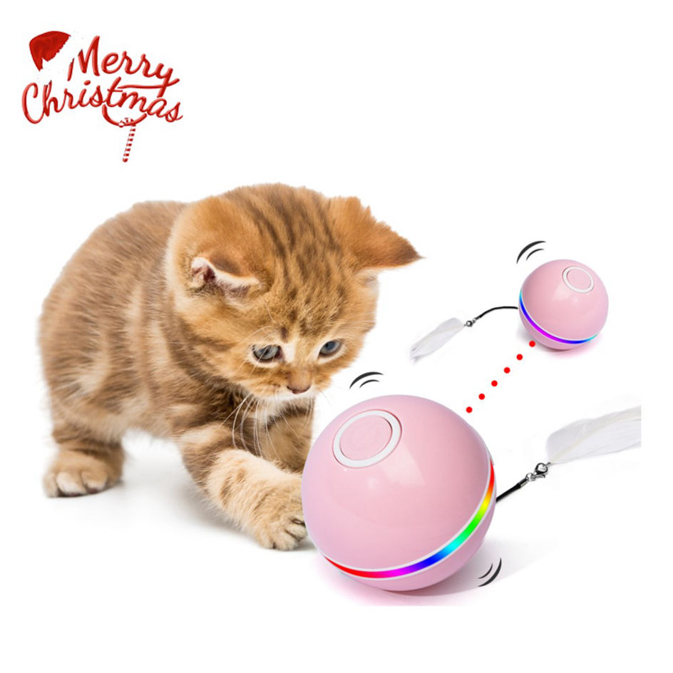 Amazon Hot Sell Pets Iq Treat Ball Interactive Smarter Problem Usb Rechargeable Cat Toy 2021