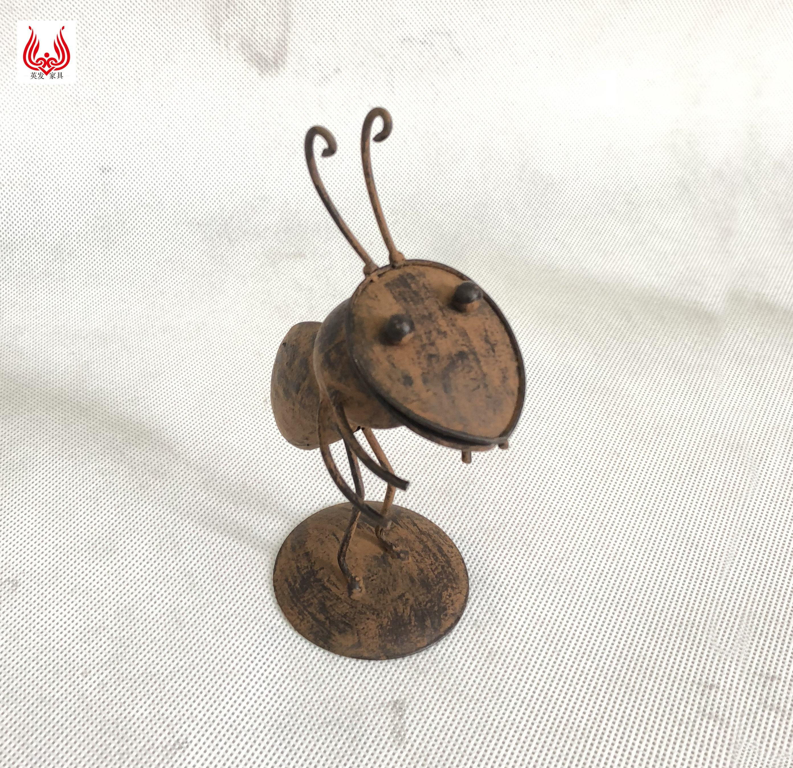 YINFA Handmade Antique Metal Ant Model for Decoration