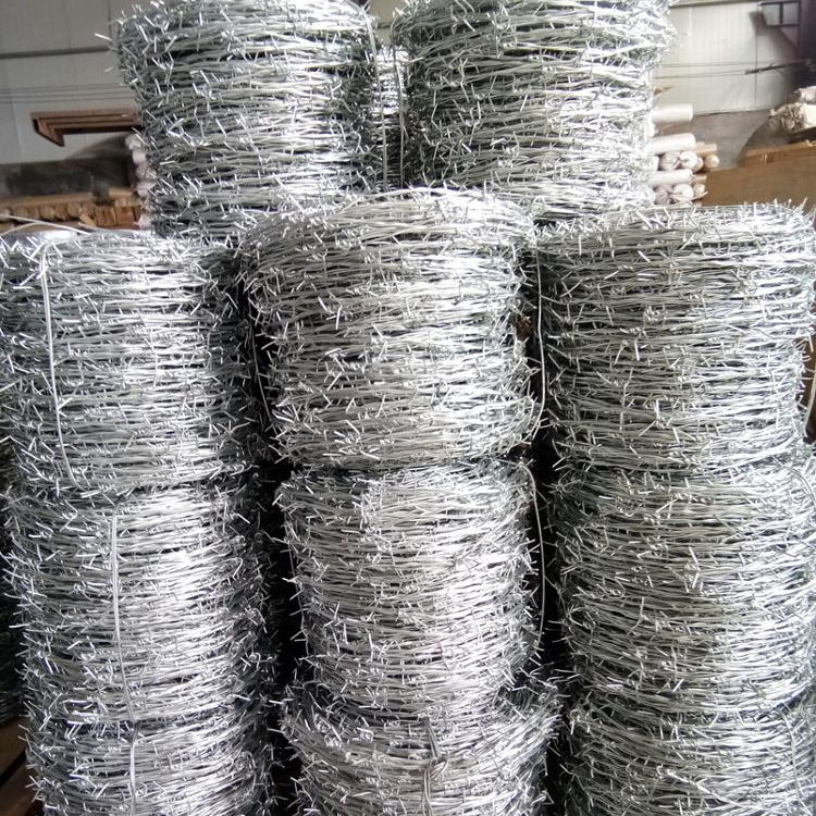 14gauge, 16gauge Galvanized barbed wire fence for sale 200m/250m/400m/500m