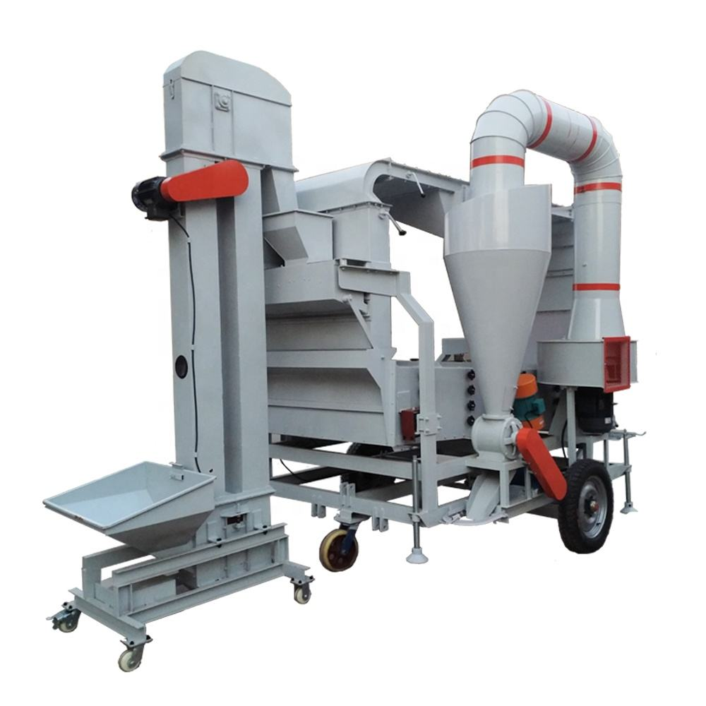 Agricultural machinery equipment low price seed wheat length grader paddy rice cleaning machine