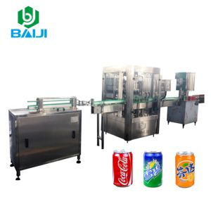 Price 2 in 1 aluminum can beer filling sealing machine / carbonated soft drink beverage canning production line