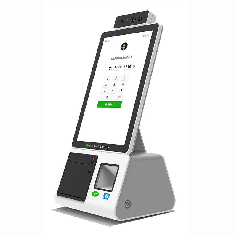 "10.1"" touch screen China cheap cash register electronic payment machine with Face payment and QR code payment"