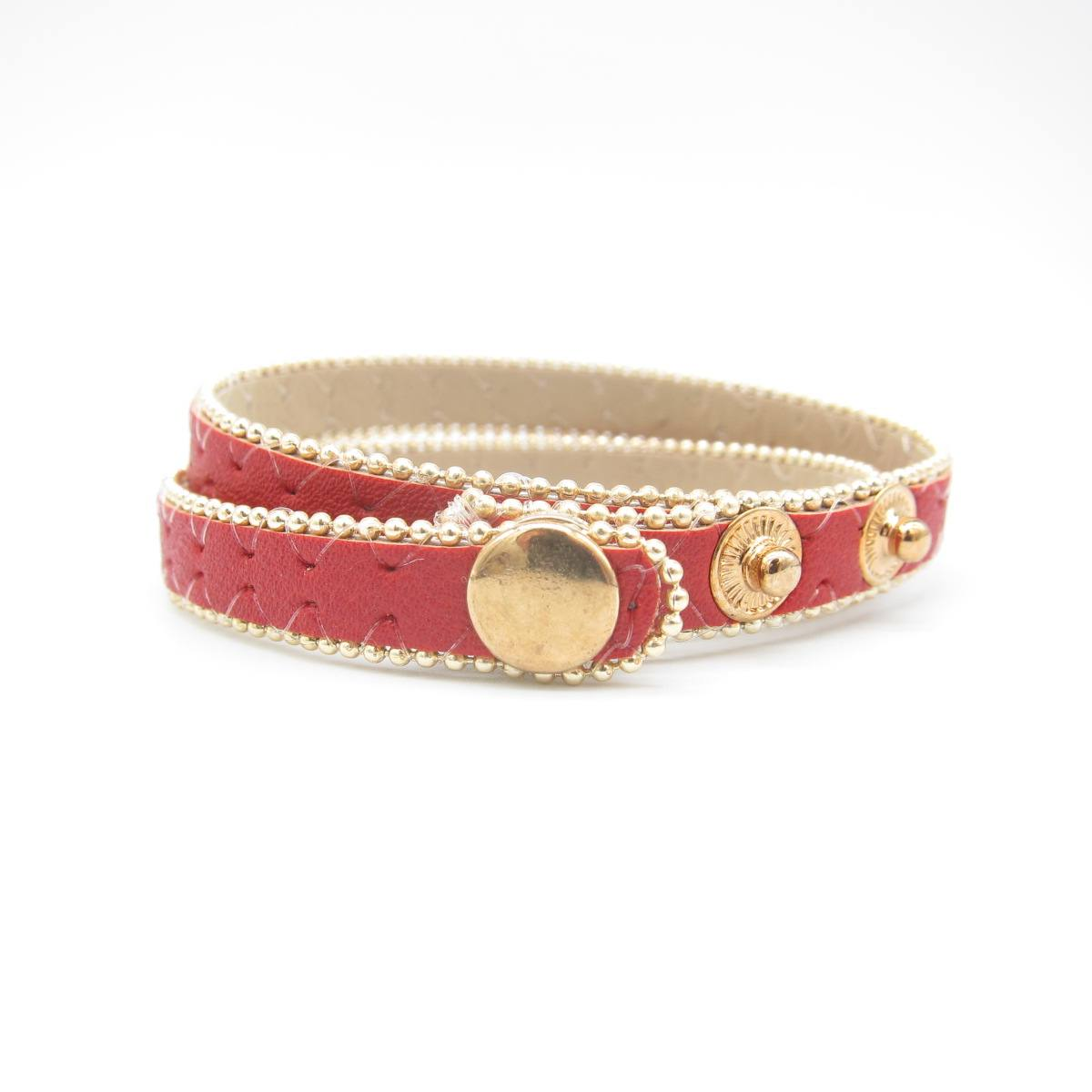 wholesale belt buckle cuff wristband vintage red genuine leather bracelet