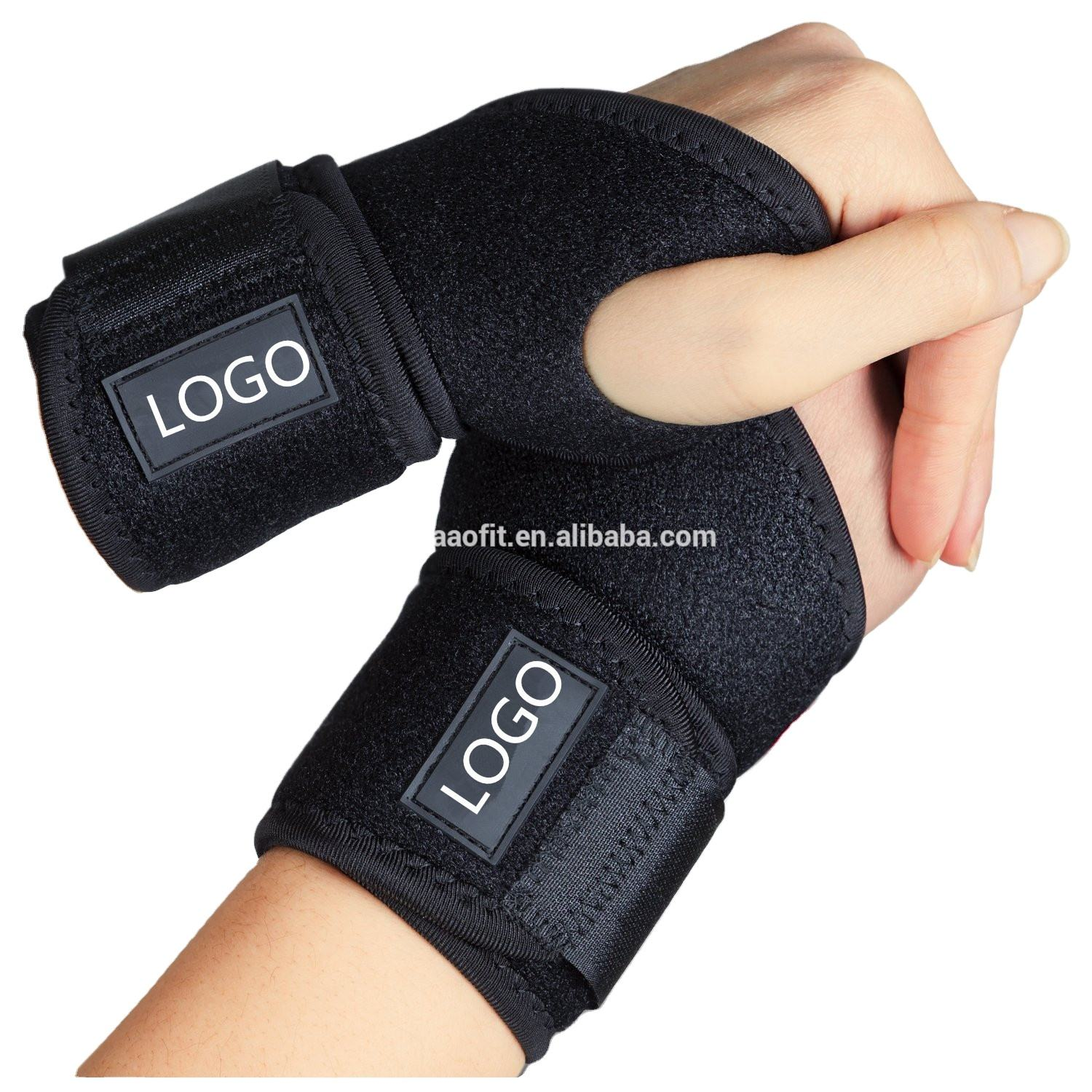 Aofeite Colorful Compression wrist brace and bowling wrist support for gym typing