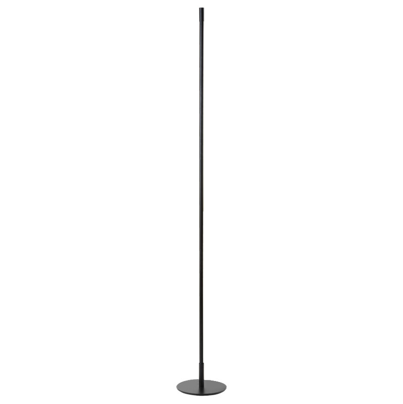 Modern minimalist alloy room vertical black led aluminum corner lamp dimmable standing floor lamp