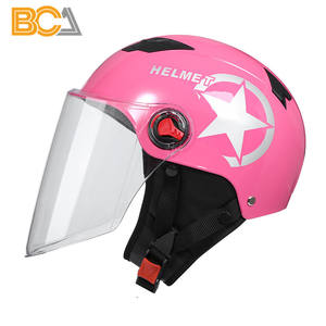 Moto casco media cara casco