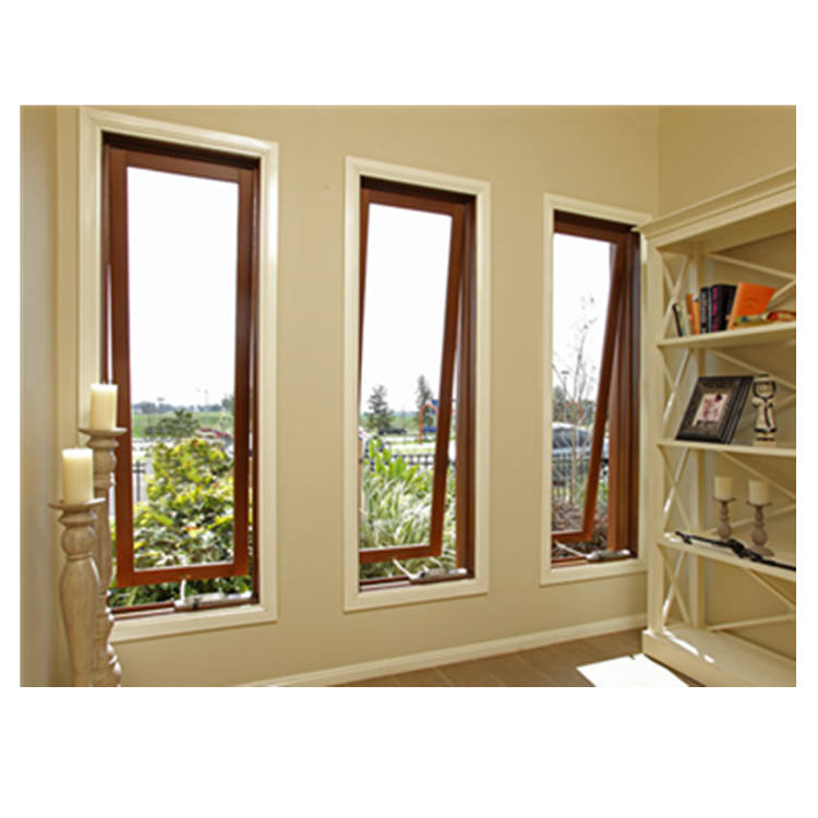 Customized top hung window design double glazed bathroom ventilation window used in residential