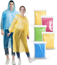 Disposable Rain Ponchos for Adults Assorted Colors travel emergency raincoat rain poncho