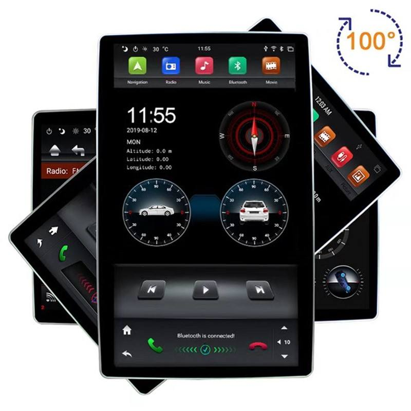 "12.8"" Rotation IPS screen PX6 big Style android 9.0 double 2 din car universal gps multimedia radio No DVD player wifi usb"