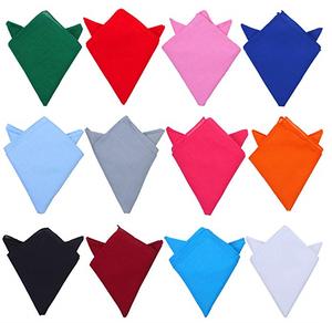 Factory Cheap Solid Colors Cotton Bandana Plain Bandana Handkerchiefs Multifunction Headbands