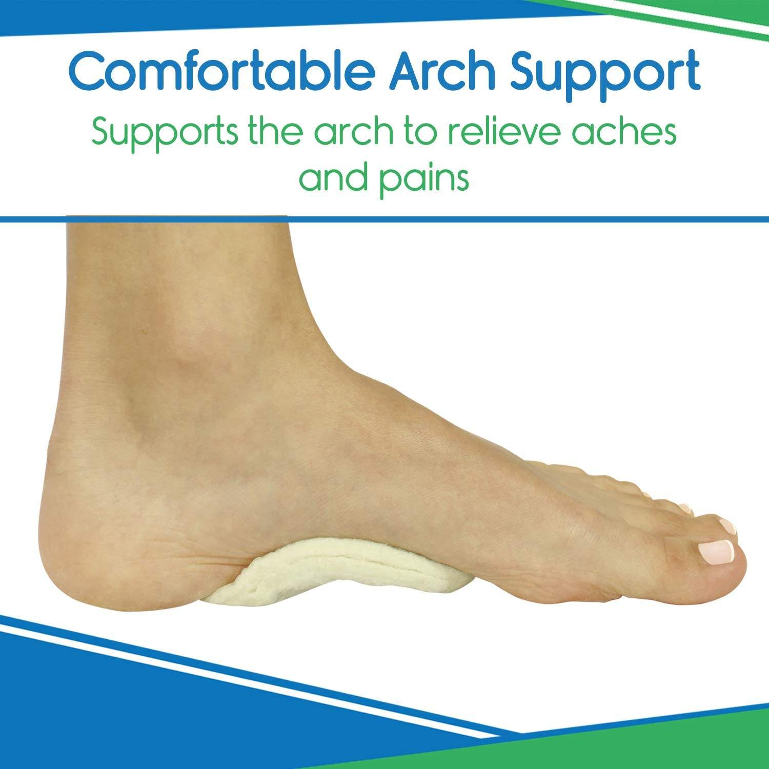 6 Pairs Adhesive Arch Support Pads Felt Foot Insert Flat Feet Arch Support For Women And Men