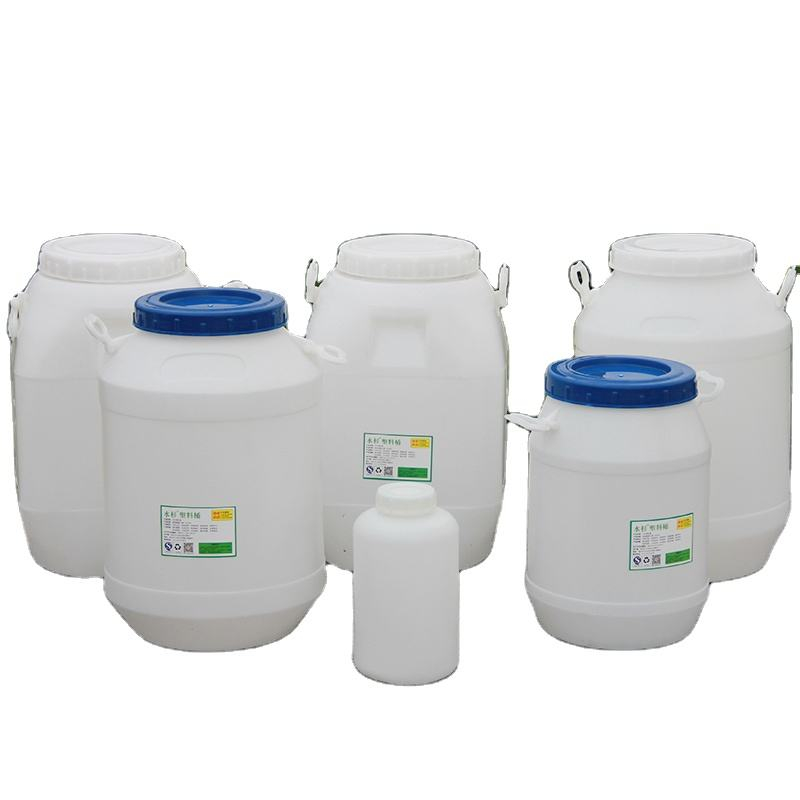 Food grade white blue plastic container barrel drum for water chemical