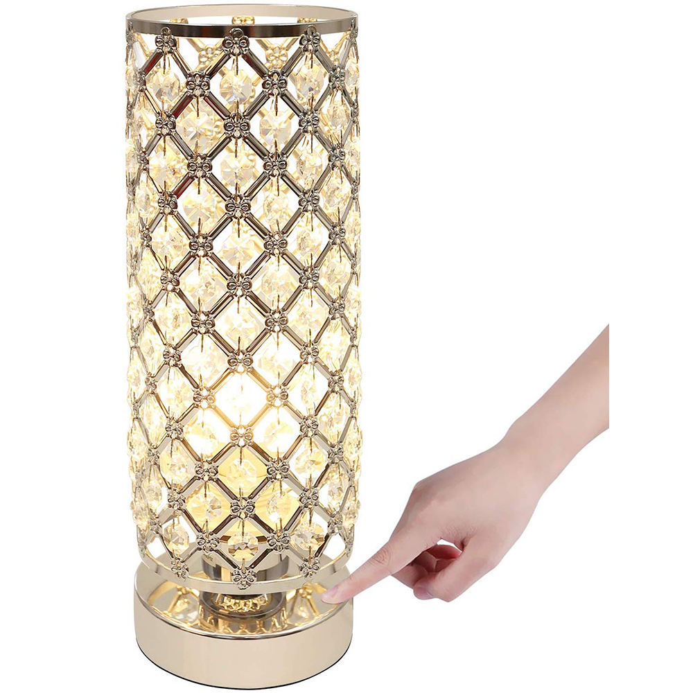 2020 New Trendinng Crystal Nightstand Lamp Touch Table Lamp for Bedroom/Living Room