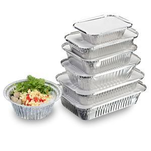 OEM Food Grade Silver Aluminum Foil Container Box Use for Hot Food Packing