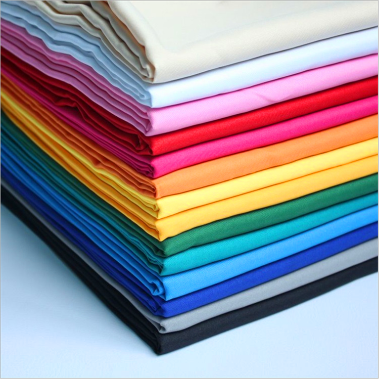 High Density Textiles Fabrics 100% Cotton Twill/Poplin Plain Dyed Fabric