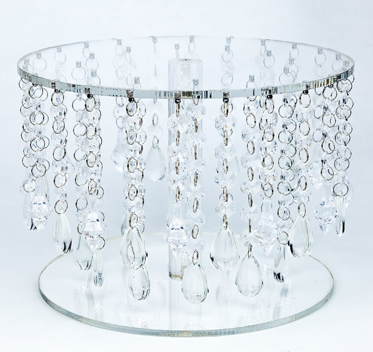 Luxury Acrylic Crystal Bead Wedding Cake Stand