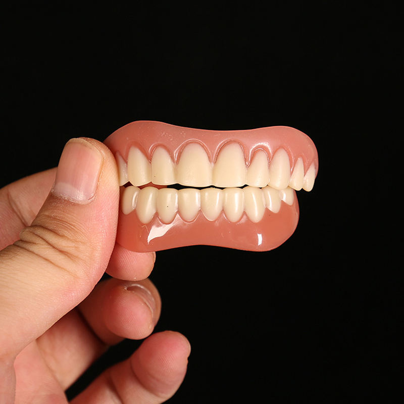 Stock perfect big smile on confidence instantly comfort fit flex teeth top bottom cosmetic veneer fits As Seen On TV