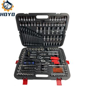 215PC professional socket set CRV material hand tools 1/2 3/8 1/4 socket tools set car repairing professional socket set