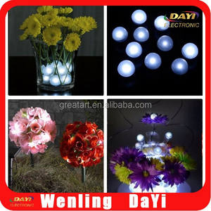 Battery Operated Led Batterij Zwembad Drijvende Mini Led Licht Bal Bloem Vazen Fairy Led Parels