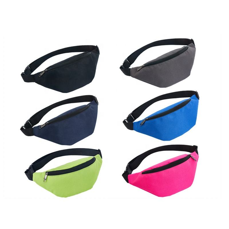 Wholesale Fashion Cheap Neon Oxford Custom Logo Outdoor Fitness Travel Sport Waterproof Fanny Pack Woman Waist Bag For Running