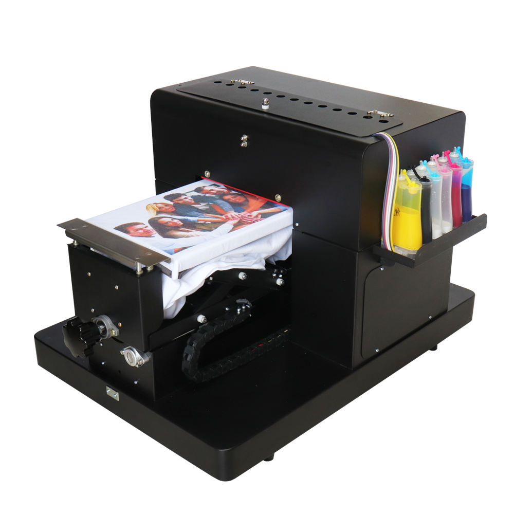 Flatbed printer A4 size DTG printer for T-shirt phone case printing with lowest price and high quality