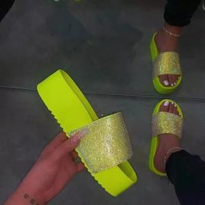 best selling women summer jelly shoes ladies platform rhinestone sandals cheap wholesale sandals for women