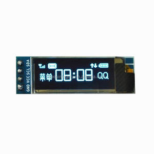 0.91 inch 128x32 I2C IIC Serial Blue / White 12832 OLED LCD Display Module SSD1306 Screen Driver