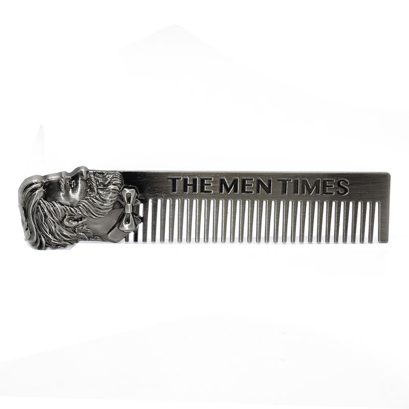 Anti-static Heath Head Treatment Comb Comb for Export Zinc Alloy Multi-functional Metal Creative Retro Customized