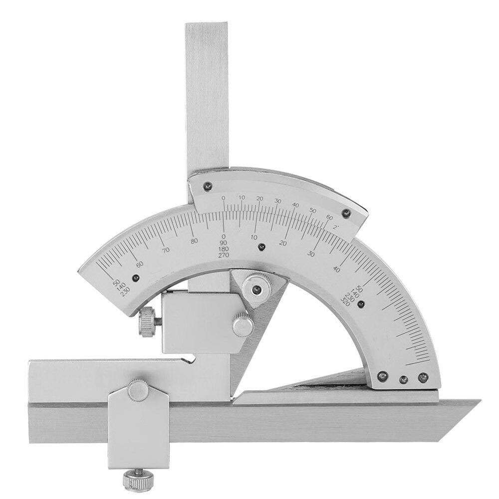 0-320 Degree Universal Bevel Protractor Precision Angle Measuring Finder Ruler