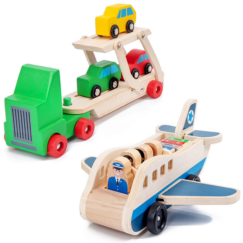 IQ/ Educational 3d Wooden Puzzle Style Catching game transport mini car puzzle toy