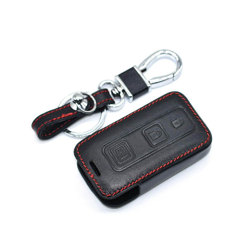 2+1 Buttons Leather Car Key Case Smart Remote Fobs Shell Cover Keychain For Toyota Prius 2004 2005 2006 2007 2008 2009