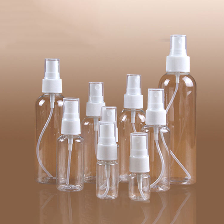Graphic Customization [ Alcohol Bottle ] Hot Sale Cheap Price Travel Pocket 5-500ml Clear Fine Mist Alcohol Spray PET Plastic Empty Bottle For Hand Sanitizer