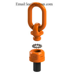 YD083  Tuff Forged lifting ring Hoist Ring Swivels 360 degre