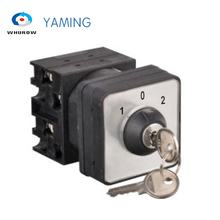Rotary Changeover Cam Switch 3 Position With Key 2 Poles 690V 20A Selector Control Circuit Dual Power YMW42S-20/2