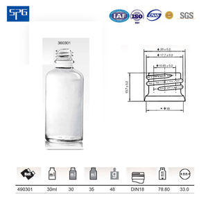30ML clear glass bottle for cosmetic essential oil dropper glass bottle