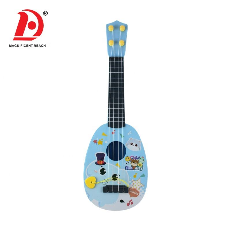 HUADA 2021 Cartoon Styling Design Children Musical Education Plastic Guitar Toys for Kids