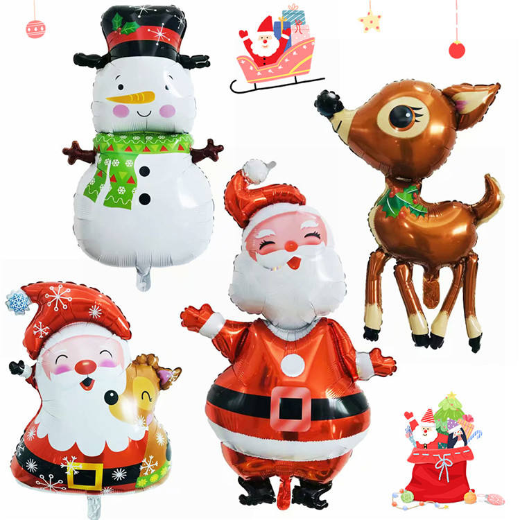 New Snowman Santa Claus Elk and Other Style Christmas Foil Balloons