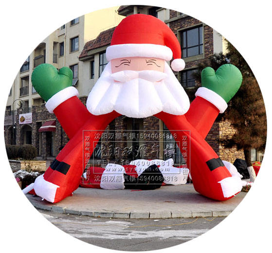 giant inflatable santa claus arch inflatable christmas arch for outdoor event used