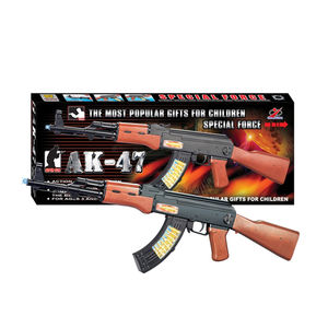 Infrared battery operated electric tommy ak 47 toy gun with shake and music for kids