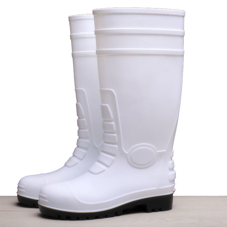 men's steel toe insole rubber fishing working safety knee rain boots