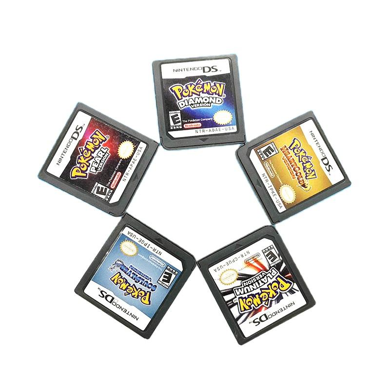 Retro Nostalgia SoulSilver HeartGold Platinum Pokemon Game Cards For Nintendo DS NDS NDSL 3DS 3DSLL