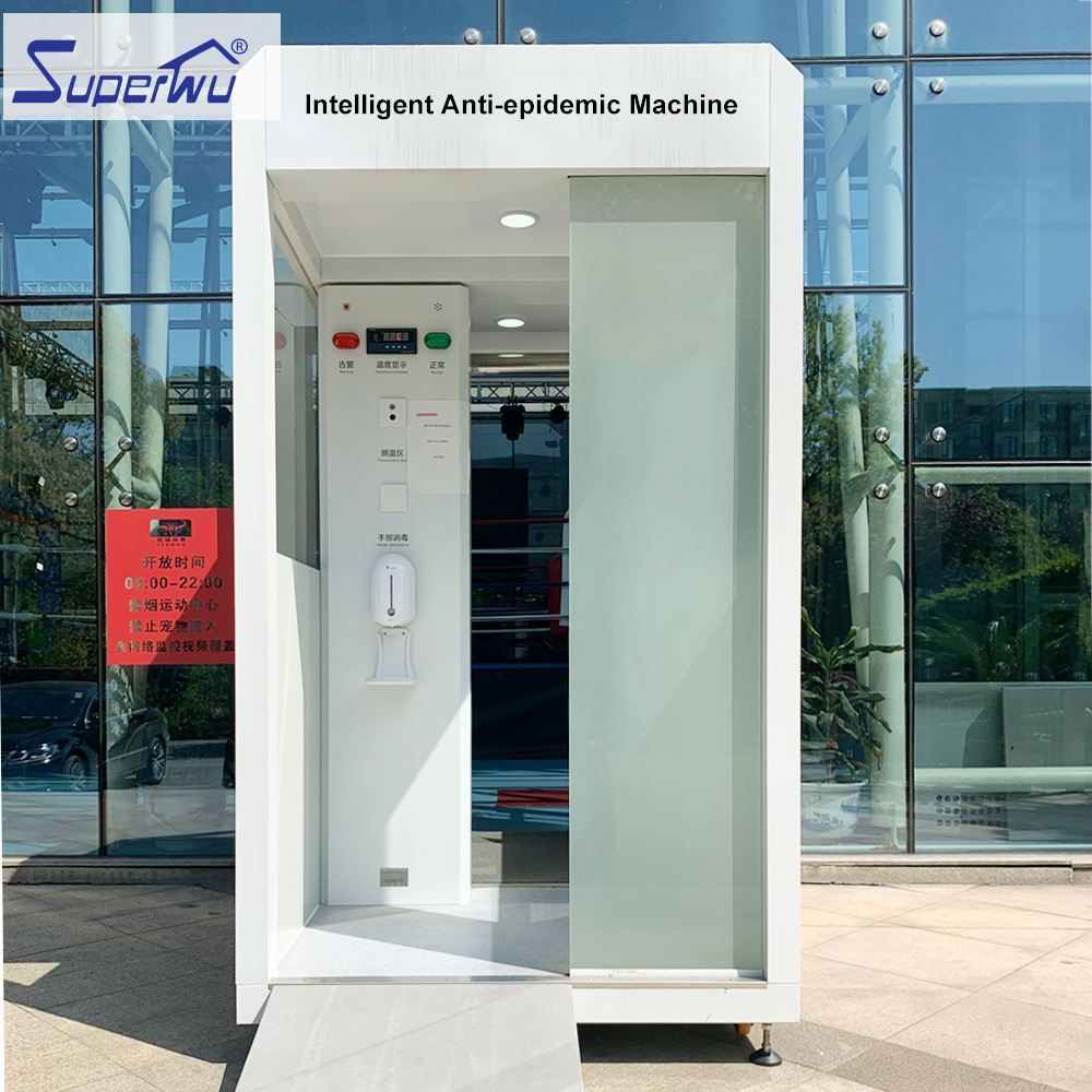Prefab house Automatic intelligent mobile thermometry measurement and entry spray virus sanitizing gate