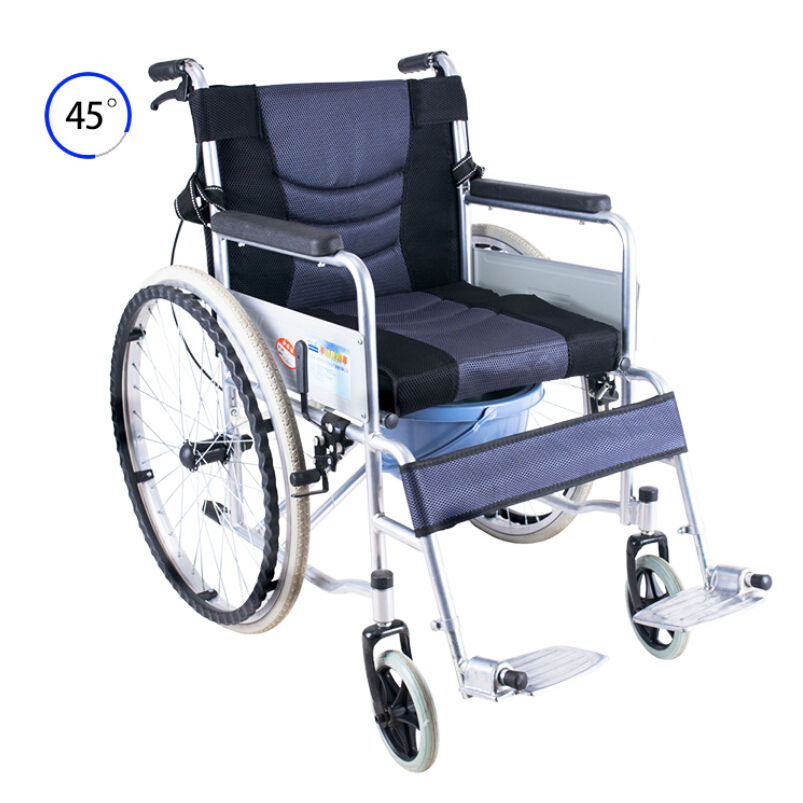 Professional high quality foot pedal patient foldable wheel chair