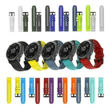 Emaker New Released 26 22MM Quick Release Watchband Strap for Garmin Fenix 6X 6 6S Pro Watch QuickFit Silicone Wrist Band Strap